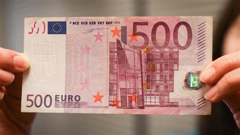 noch im april  euro schein wird  wenigen tagen