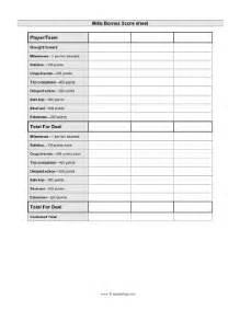 Kabaddi Score Sheet Model by Printable Mille Bornes Scoresheet