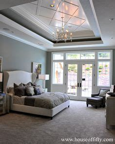 master bedroom tray ceiling makeover house building pinterest double tray ceiling add crown moulding to really make it