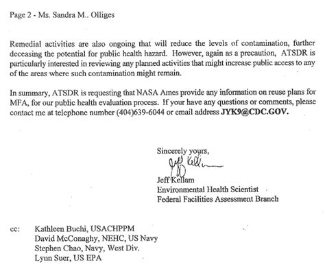 Retention Release Letter Construction Atsdr Pha Hc Moffett Naval Air Station P2