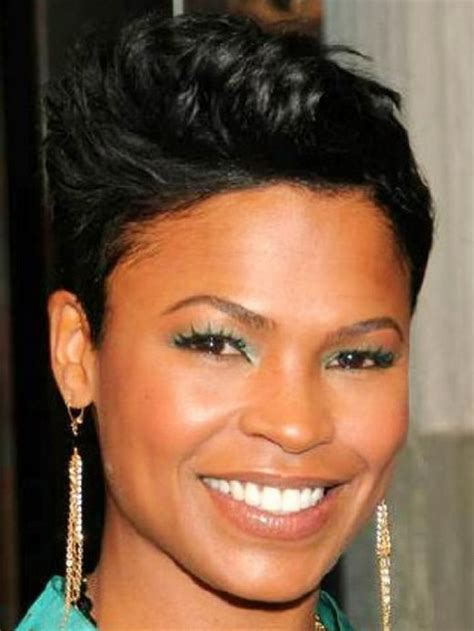 nia long weave styles short pixie haircuts for black women