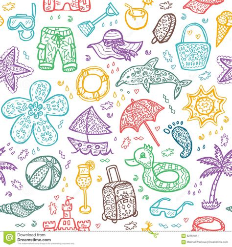 background pattern beach vector beach pattern for summer stock vector image 62464841