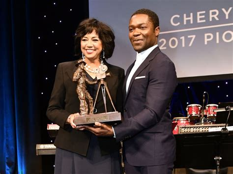 by ken levine and david isaacs television academy president cheryl boone isaacs accepts cinemacon s pioneer