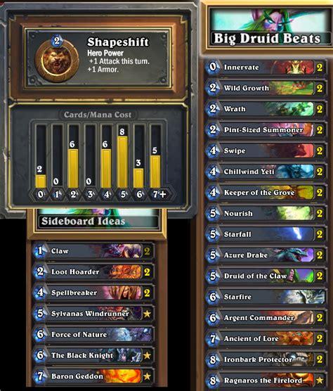 druide deck strategy metadeck 1 big druid beats hearthstone