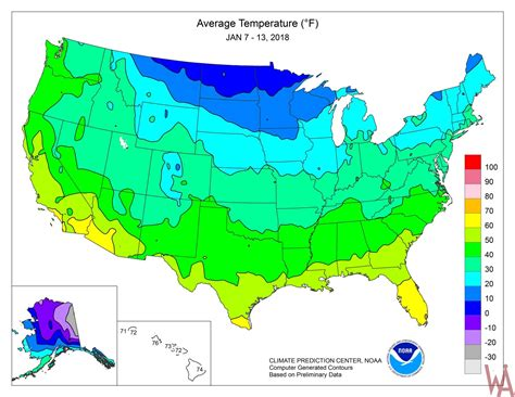 us average temperature map december climate maps of the usa whatsanswer