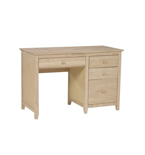 Drawers Desk by 44 Inch Lancaster 4 Drawer Desk Bare Wood Wood