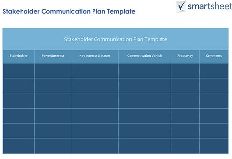 stakeholder management plan template how to create a stakeholder management plan smartsheet