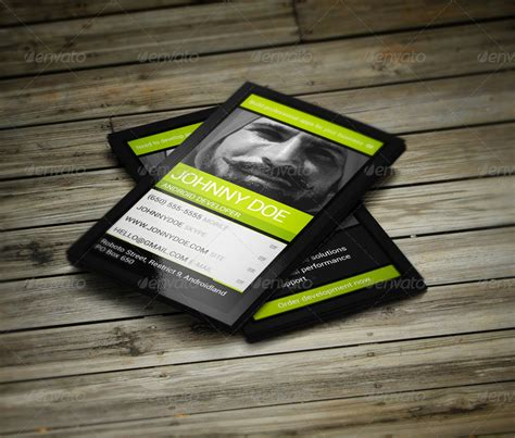 Business Card Templates For Android | android developer business card by vinyljunkie graphicriver