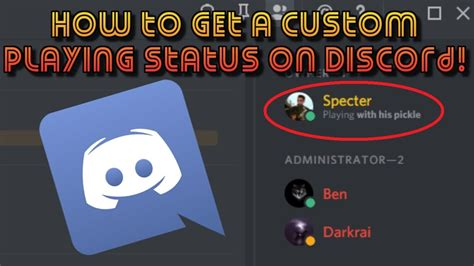 discord custom playing how to set a custom playing status on discord specter