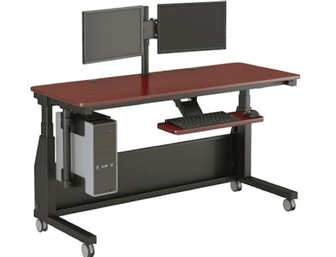 motorized stand up desk versatable edison electric stand up desk review