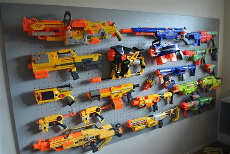 nerf gun rack i it nerf gun wall storage i think im going to do this in my