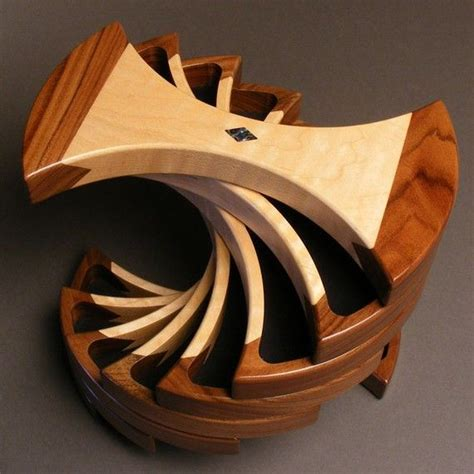 unique woodworking ideas rotating jewelry box with secret compartments functional