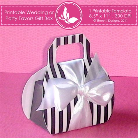 templates for party favor boxes 8 best images of printable wedding templates favor box