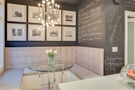 banquette seating dining room kitchen booth seating dining room contemporary with banquette chalkboard paint