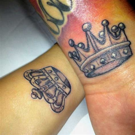 his and her crown tattoos 50 king and for couples dzinemag