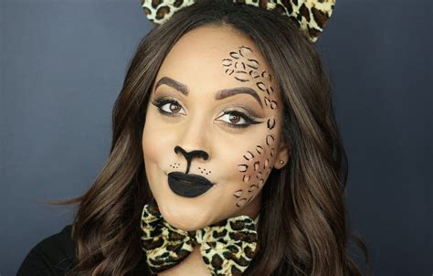 leopard makeup tutorial halloween makeup tutorial leopard cheetah hair
