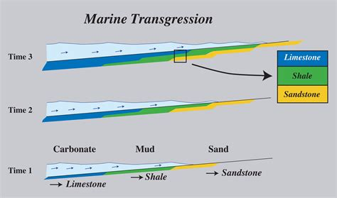 which diagram represents deposition great unconformity in montana and rising seas during the