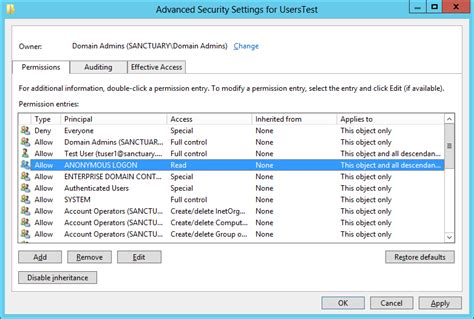 default setter semantic attribute anonymer zugriff auf active directory active directory faq