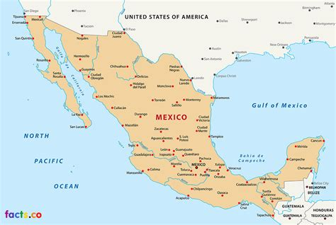 mexico in the map mexiko karte st 228 dte