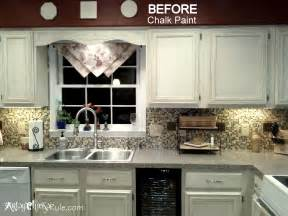 Home Depot Rustoleum Cabinet Transformation - how to paint kitchen cabinets with chalk paint