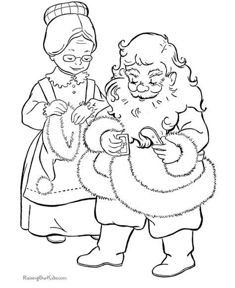 santa claus coloring page pdf santa color by number az coloring pages