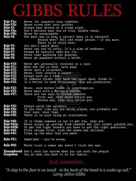 gibbs rules the complete list from ncis page 2 ncis de 25 bedste id 233 er til gibbs rules p 229 pinterest ncis og