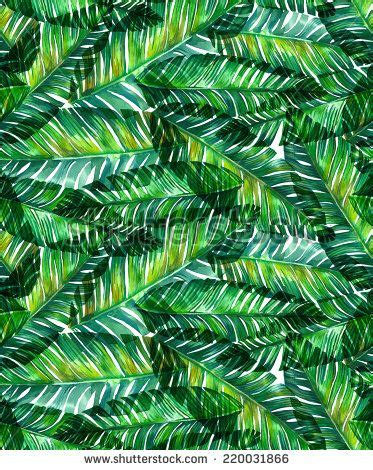 banana leaf template seamless watercolor banana palm leaf pattern e 15 16