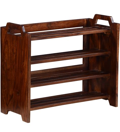solid wood shoe rack buy elkhorn shoe rack in provincial teak finish by