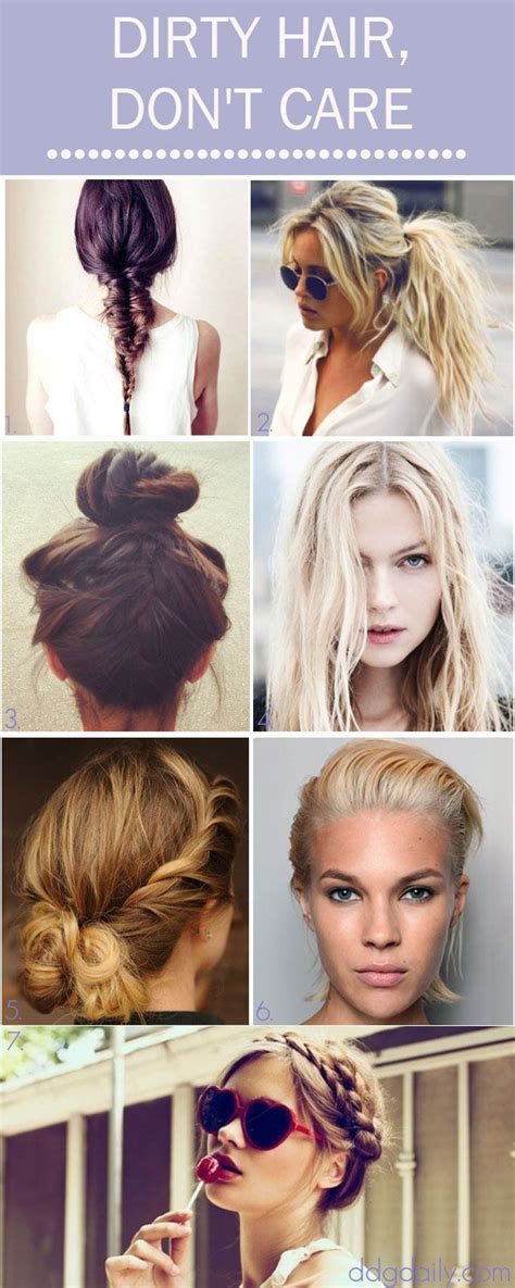 hairstyles to do with dirty hair dirty hair don t care a ddg moodboard full of tress