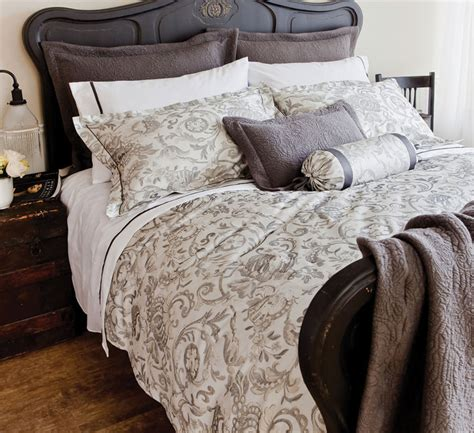 Gray Pattern Comforter by Grey Floral Vine Pattern Bedding St Geneve Avignon Grey