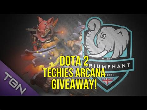 Dota 2 Arcana Giveaway - dota 2 techies arcana giveaway closed subscribe for