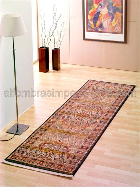 alfombras baratas alfombra de clasica pasillera pol 9910 oro