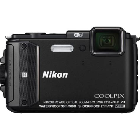 nikon coolpix waterproof nikon coolpix aw130 waterproof digital black uu ebay