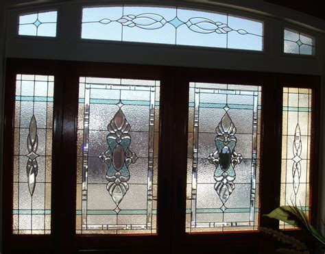 Handmade Stained Glass Elegant Front Door Entry System By Beveled Glass Front Door