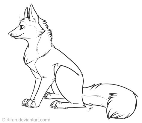 Fox Drawing Outline by Fox Drawings Outline Coloring Pages