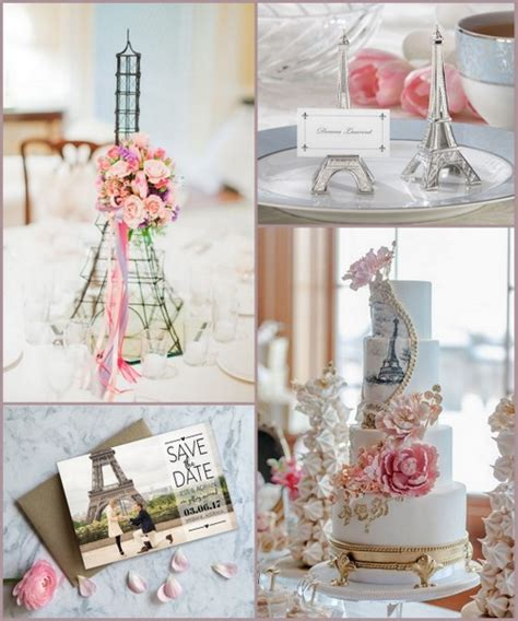 Wedding Decorations Brochure by Themed Wedding Ideas With Eiffel Tower Design From