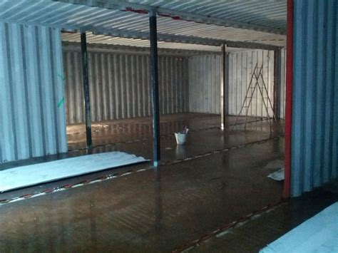Shipping Container House Construction 7   Odpod Shipping