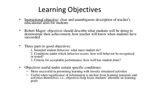objectives of teaching demonstrate learning objectives images