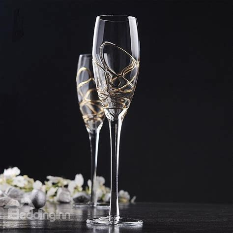 luxury wine glasses new arrival luxury chagne glass wine glass on sale