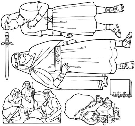 lds coloring pages nephi builds a ship nephi obtains the plates friend