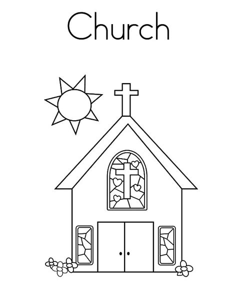 Church Tower With Bell Coloring Pages Church Tower With Coloring Pages For Church