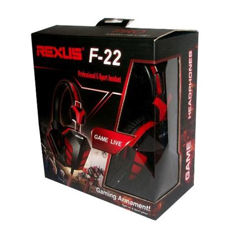 Headset Gaming Rexus Vonix F 26jack35mm rexus f 22 gaming headset toko sigma