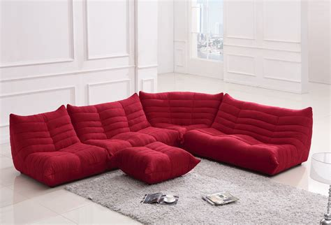 bloom fabric sectional sofa
