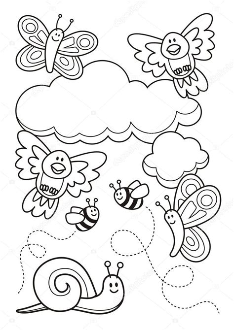 spring baby animals coloring pages