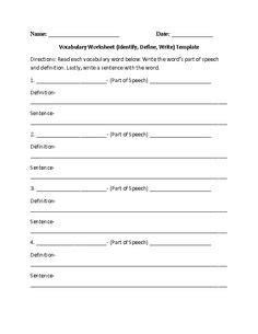 printable lyrics to hit the quan vocabulary worksheet define write draw template