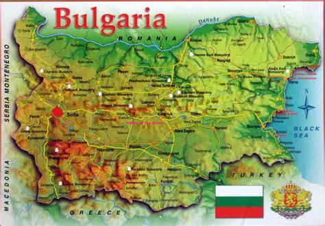 map of bulgaria map of bulgaria