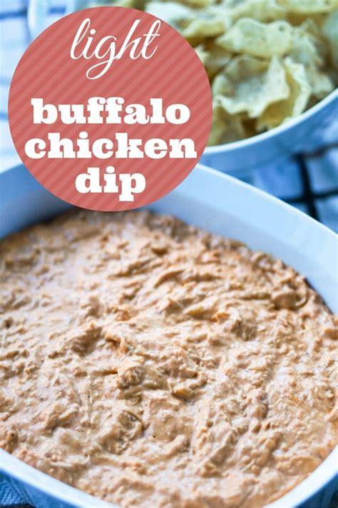 Light Buffalo Chicken Dip