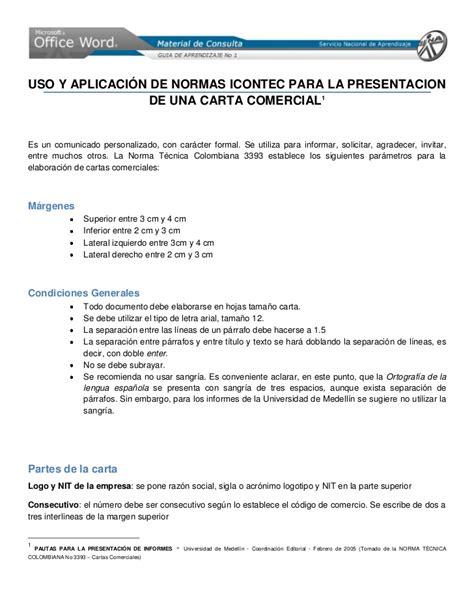 carta formal termino de contrato norma icontec