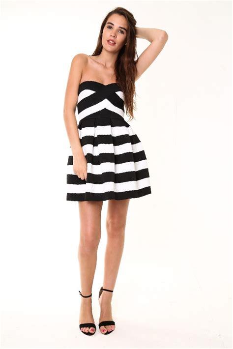 White And Black Dress black and white dress dresscab