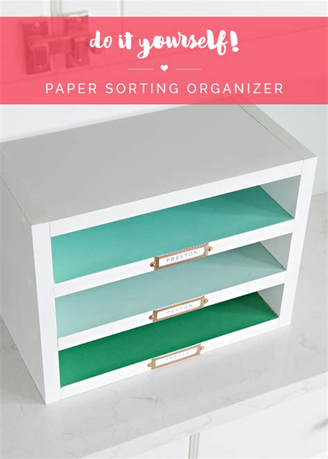 paper desk organizer iheart organizing do it yourself paper sorting organizer